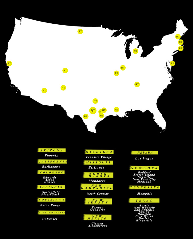 Map of locations stocking Rare Trends fashion